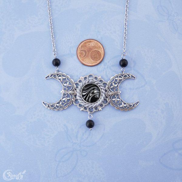 drievoudige maan triple moon regenboog obsidiaan - Ronafly