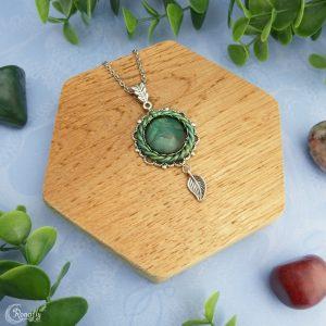 ronde hanger blad bedel groen - Ronafly